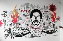 Pequeo Tributo a Pablo Escobar (Toxicmano) Tags: berlin stencil colombia bogot rita pablo alemania aerosol interiordesign escobar triana tributo sonico toxicomano techsound narcotrfico elpatrn elmalpaga