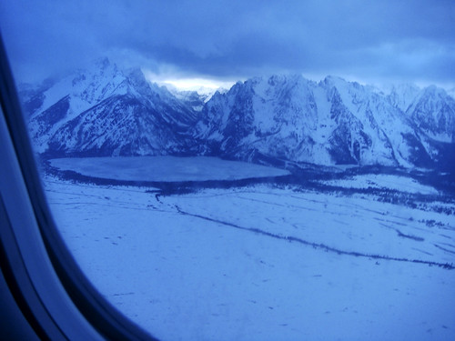 The Blue Hour - landing in Jackson Hole, Wyoming