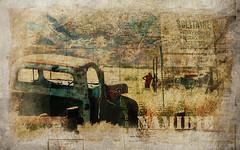Namibia - tropic of Capricorn (vinciane.c) Tags: africa sign southafrica vacances holidays atmosphere cornfields namibia enseigne afrique namibie afriquedusud atmosphre champsdebl vieuxpickup tropicducapricorne oldmanpickup tropicofthecapricorn