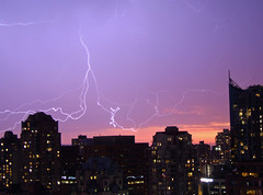 Lightning Over Vancouver (Uncle Buddha) Tags: sky canada storm nature night vancouver downtown bc power britishcolumbia columbia explore british thunderstorm lightning electrical tpc tpcu8 tpcu8l4