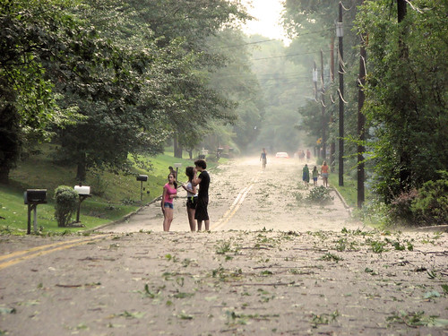 The social side of heavy weather