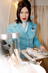 New KOREAN AIR (toxicsilk) Tags: uniforms lipstick airlines koreanair sexyflightattendant asianflightattendant firstclasscabinservice