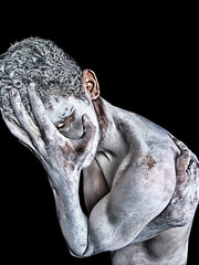 Emotion Sickness (Jhows) Tags: boy portrait eye art texture love silver death paint hand emotion body spirit ghost dream dramatic soul feeling lover talc w120 withoutheart jhows jhonatassilva