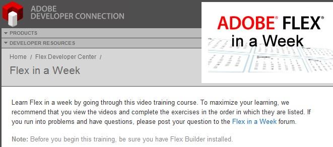 apprendre adobe flex video gratuit