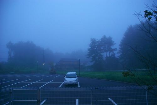 夜明け 富士山は見えません