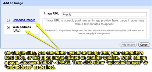Add images to Google Sites