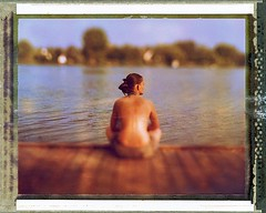 I wanna go back (lost in pixels) Tags: summer girl speed polaroid hungary graphic kodak 4x5 expired danube largeformat aero graflex ektar tiltshift polacolor pro100 178mm autaut