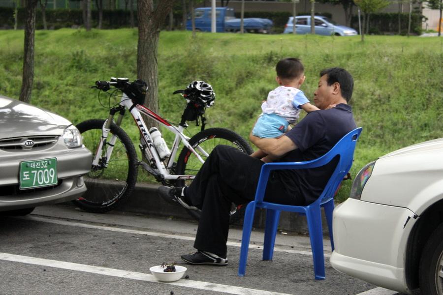 Grandpa with kid
