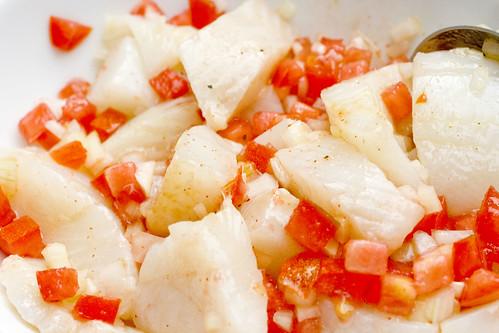 marinating flounder