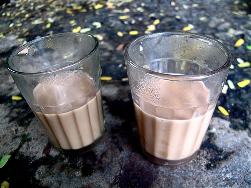 Cutting Chai - meaning half a cup of Chai. This is how Chai is served in Mumbai, India