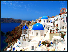 I just can`t get enough of the beauty of Santorini.................. (:Musel:) Tags: sea sky color colour church colors landscape island greek see coast meer view urlaub aegean kirche insel santorini greece caldera blau 1001nights griechenland ml landschaft santorin blick oia cyclades mediterraneansea vulcano thira vulkan thera ellada mittelmeer ellda  thirasia  ells thiras kykladen   flickraward  canonpowershots5is platinumheartaward