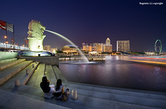 Singapore :: The Merlion (Ragstatic) Tags: city longexposure travel light sunset sky holiday color detail tourism water relax landscape lights google nikon singapore asia exposure view nocturnal nightshot rags famous visit tourist explore photograph land destination popular nocturne dri blending d700 singaporelandscape singaporenightshot singaporeview ragsphotography