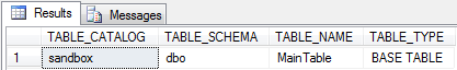 INFORMATION_SCHEMA.TABLES
