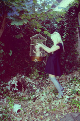 (romiedepomie) Tags: portrait baby cold self romy born alice bored cage blond wonderland leafs selportrait