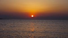 Chase the Sun (MarinosG) Tags: sunset sea summer sun beach water greek lumix panasonic greece marinos elafonisos dmcg1 marinosg