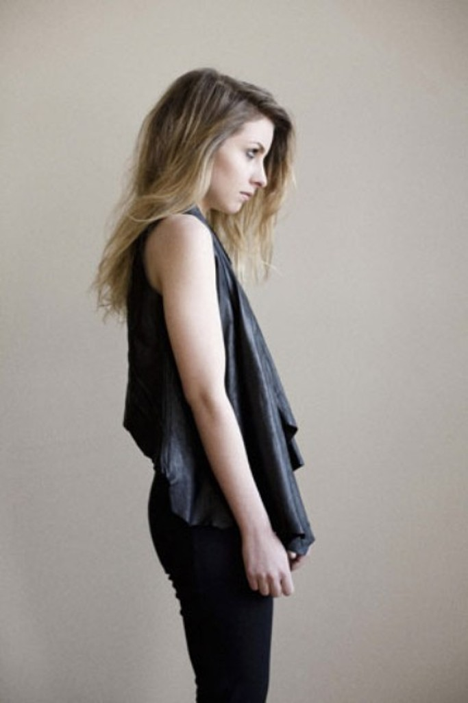 BlackMarketBaby draped leather vest at Etsy 3