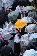 Note to self: bring a stronger umbrella for the next typhoon!: Shinagawa Station, Tokyo (Alfie | Japanorama) Tags: road street people urban news rain station weather japan umbrella walking japanese nikon asia wind crowd documentary windy rainy shinagawa umbrellas raining crowds typhoon eki taifun nikkor80200mmf28