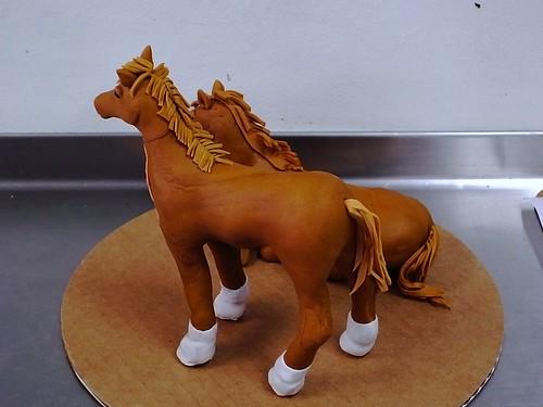 Fondant horses