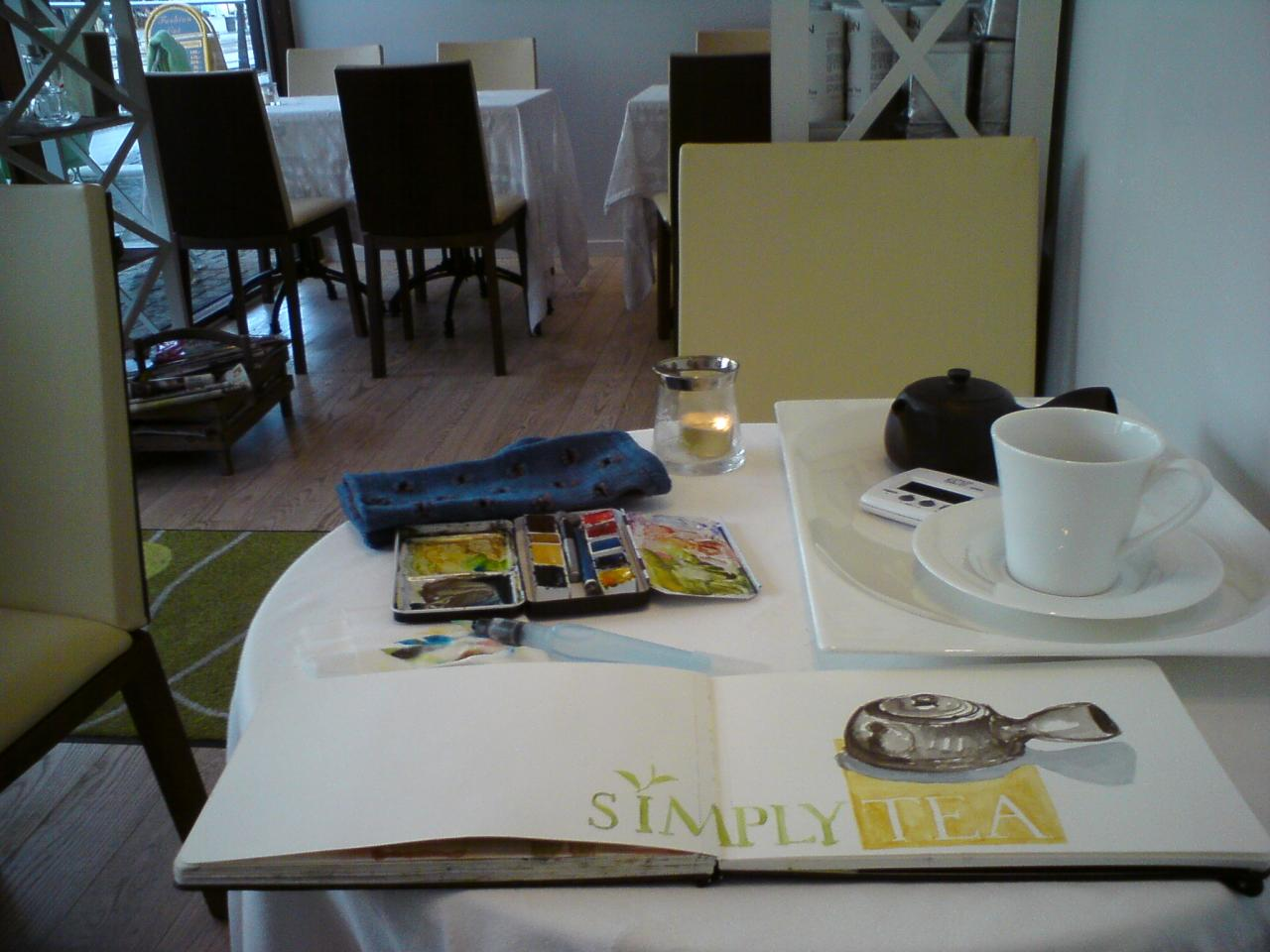 sketchbreak at café Simply Tea