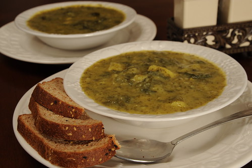 Curried POtato, Apple and Kale Soup
