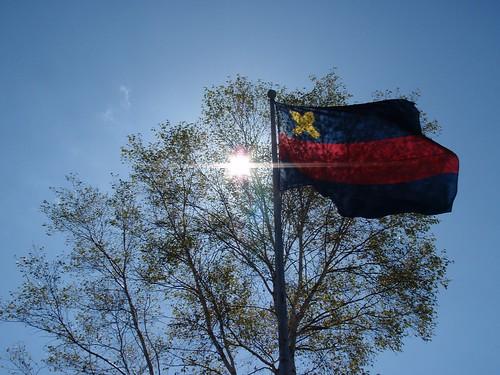 Tateshina y bandera de Keio
