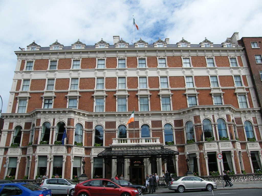 The world-famous The Shelbourne Hotel - A Renaissance Hotel - in Dublin - Ireland! Grand Stature at its best! ( summer 2008 ).