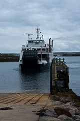 Caledonian MacBrayne Ferry arriving at Leverburgh Port, Isle of Harris (www.bazpics.com) Tags: trip summer vacation holiday tourism landscape island islands scotland highlands scenery tour lewis scottish harris isle outerhebrides bazpics barryoneilphotography