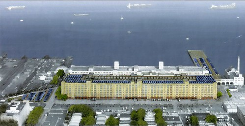 Among the 30 green initiatives launched by Mayor Michael Bloomberg is more solar panels in the city, including the largest array planned for the Brooklyn Army Terminal. (Courtesy NYC EDC)