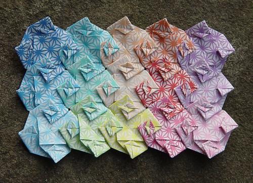 """4-Arm Wirbelmuster""  von Toshikazu Kawasaki (Tagfalter) Tags: origami modular patchwork toshikazukawasaki"