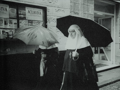 Busted by a Wet Nun with an Umbrella