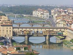 Mosty na Arno (magro_kr) Tags: city bridge italy water architecture river florence italia most tuscany firenze arno toscana woda miasto architektura rzeka włochy wlochy toskania florencja