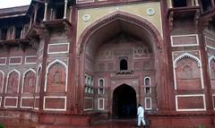 Agra Fort Entrance (christinegoodin) Tags: india sandstone lotus agra unesco marble lotusflower agrafort whitemarble redsandstone unescosite