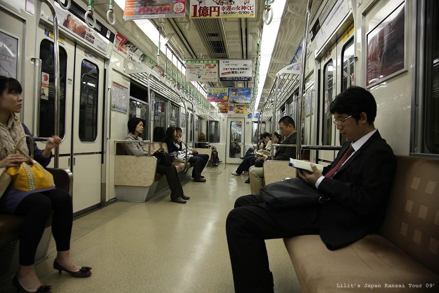 電車車廂內