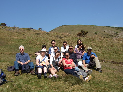 A rest halfway up Long Mynd