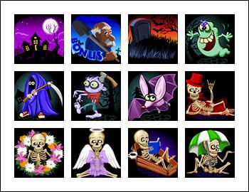 free Grave Grabbers slot game symbols