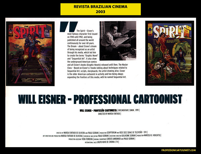 """Will Eisner - Professional Cartoonist"" - Revista Brazilian Cinema - 2003"