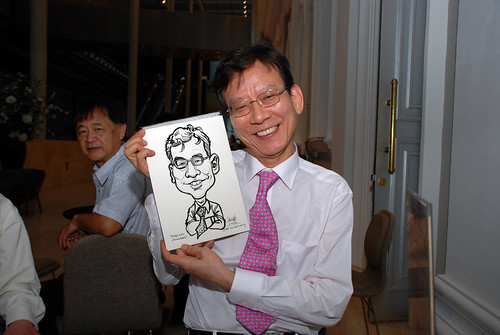 Caricature live sketching for Tetra 60th Anniversary - 4