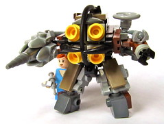 Big Daddy & Little Sister (Imagine) Tags: toy lego videogame minifig littlesister mech bigdaddy moc bioshock imaginerigney