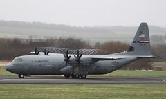 08-5678 USAF Dyess C130J-30 Hercules Glasgow Prestwick 9/3/14