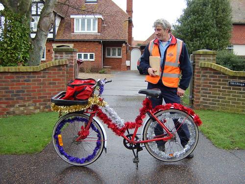 Postman's Christmas bike