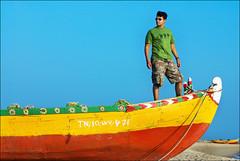 Atho Antha Paravai Pola .. (Prabhu B Doss) Tags: portrait self boat fishing nikon village tamilnadu rameswaram prabhu bayofbengal dhanushkodi incredibleindia d80 prabhub prabhubdoss enchantingtamilnadu colorboat sorgameendralum prabhuboomibalagadoss zerommphotography 0mmphotography