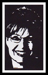 Sarah Palin (bernie.levine (new year, new beginning)) Tags: vicepresidentcandidate womanportraiture papercutportraiture