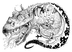 Dyspepsia the Dragon (snerdinski) Tags: ship dragon heartburn crosssection