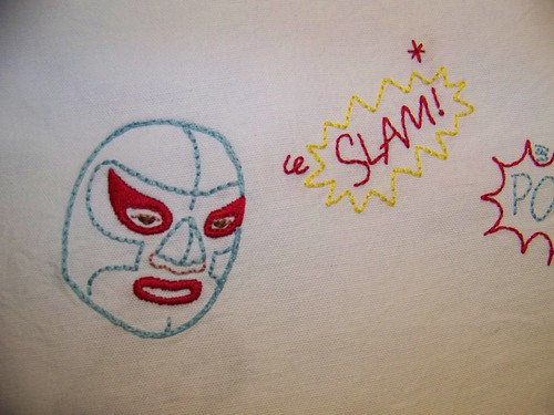 Nacho Libre Tea Towel (Detail)