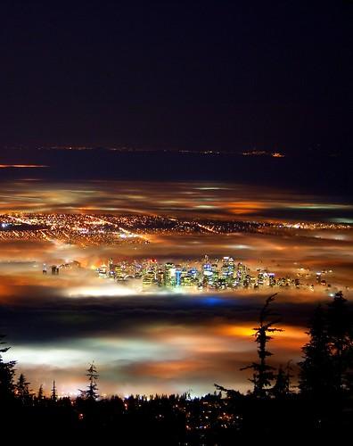 Vancouver Night/Fog