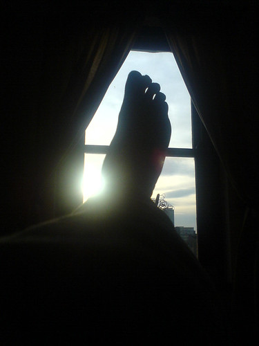 Sarah's foot