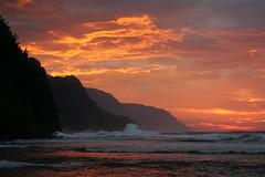 Kauai Vacation (Todd & Barbara) Tags: ocean sea vacation sky usa nature water ecology america hawaii us scenery skies unitedstates unitedstatesofamerica kauai northamerica environment environmentalism ecosystem haena sunsetsundown