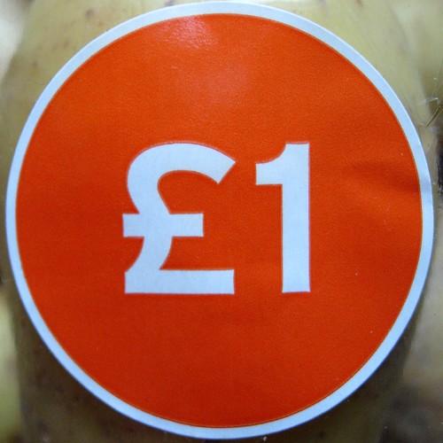 £1 price tag