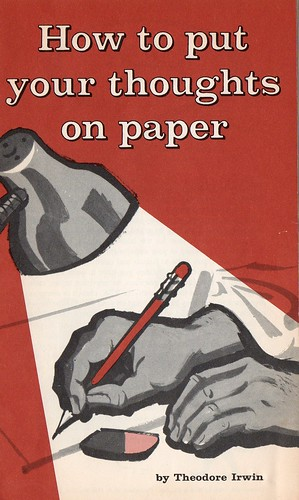 How to put your thoughts on paper- Front Cover