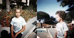 Nostalgia I (jasontakesphotos) Tags: california sun film pool vintage hair belmont afro curl rollers curlers